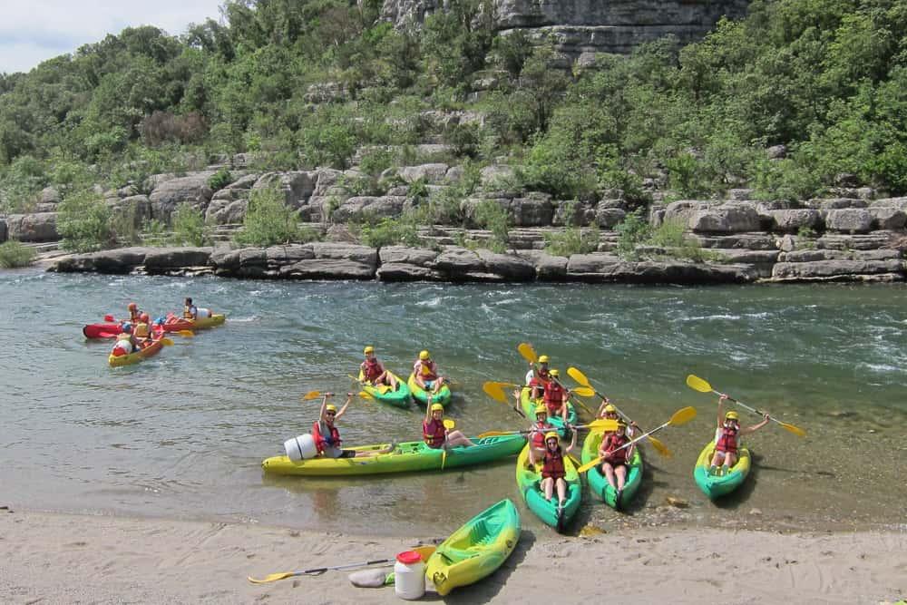 Kayak dans les rivières de l'Herault avec LSF