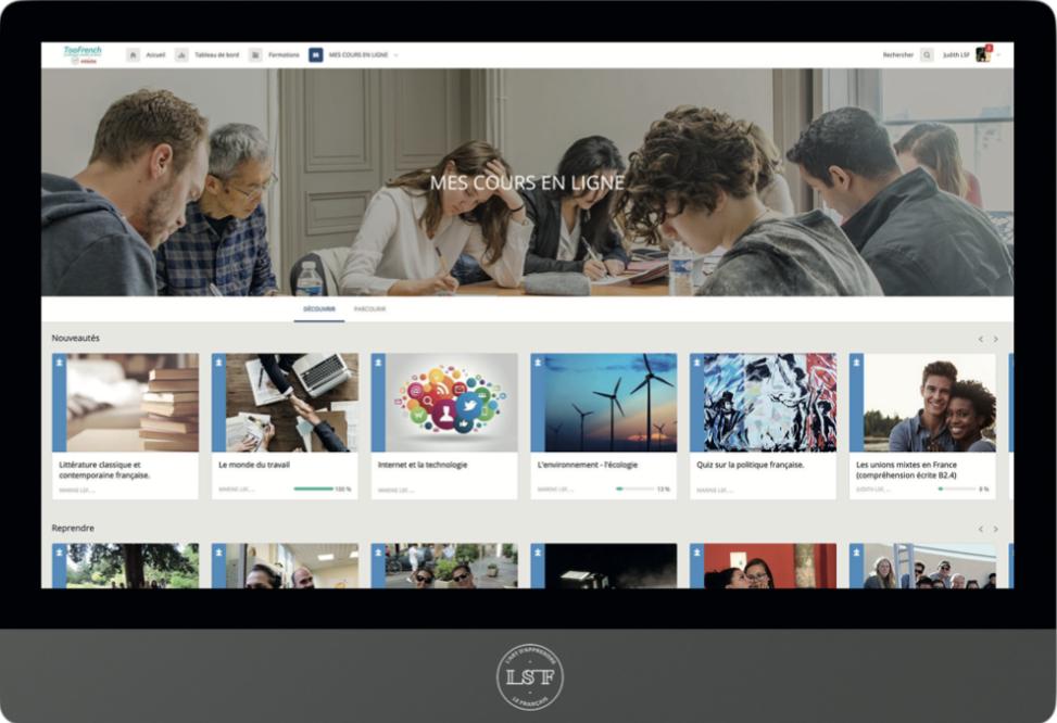 Plateforme e-learning de français